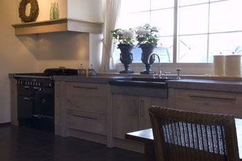 Keuken met eiland landelijk