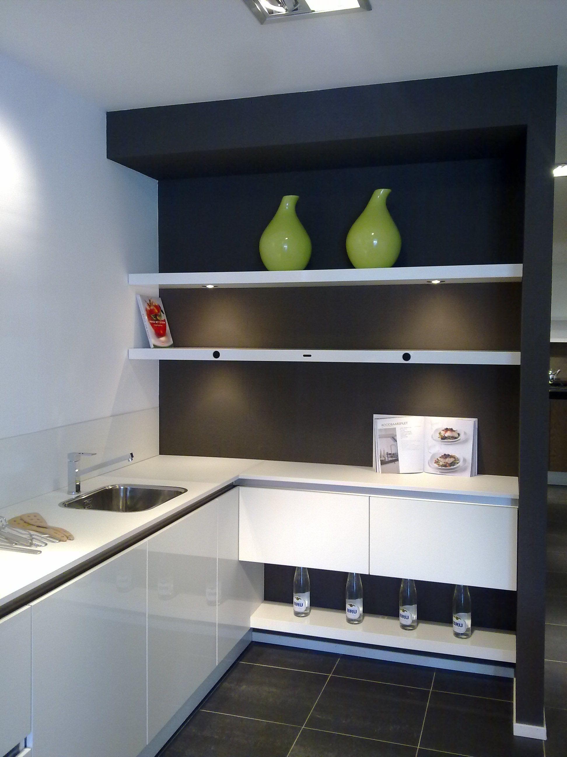 Witte Hoogglans Greeploze Keuken : beste keukenprijs! Greeploze witte hoogglans Keller keuken [37463