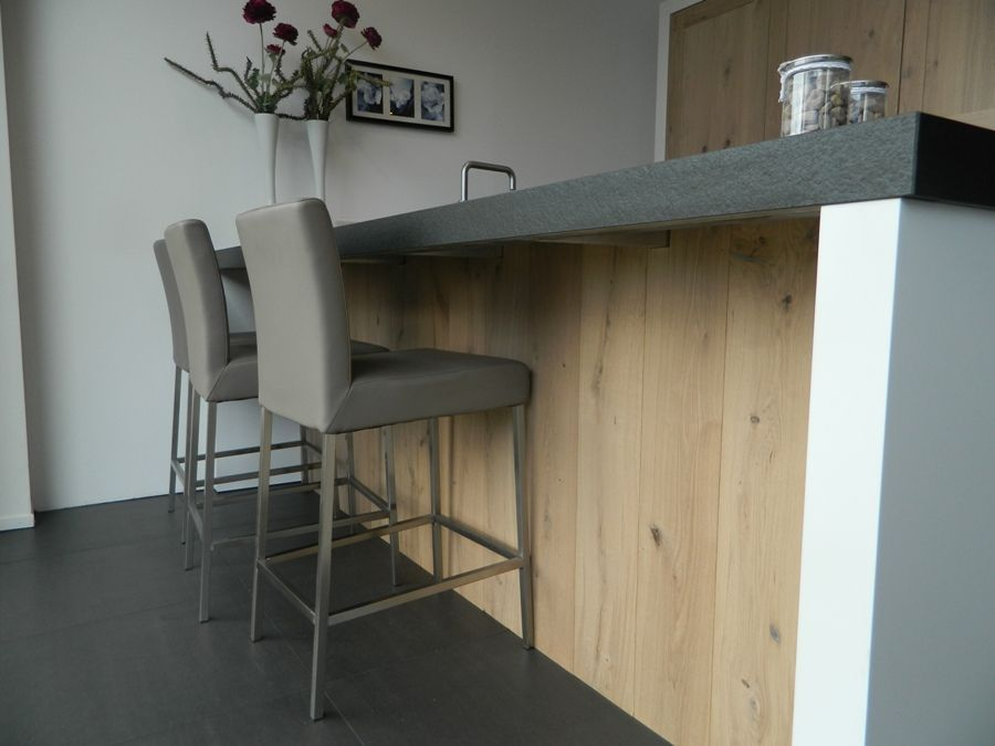 Keukenprijs altijd de beste keukenprijs stoere massief houten keuken 55883 - Centrale eiland houten keuken ...