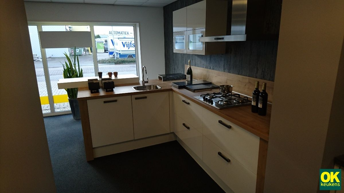 Keukenprijs altijd de beste keukenprijs moderne keuken met schiereiland 54108 - De beste hedendaagse keukens ...